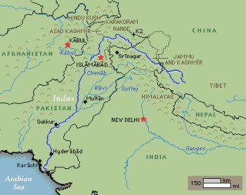 From 25000 to 1700 bc, the indus river irrigated the lands of a very
